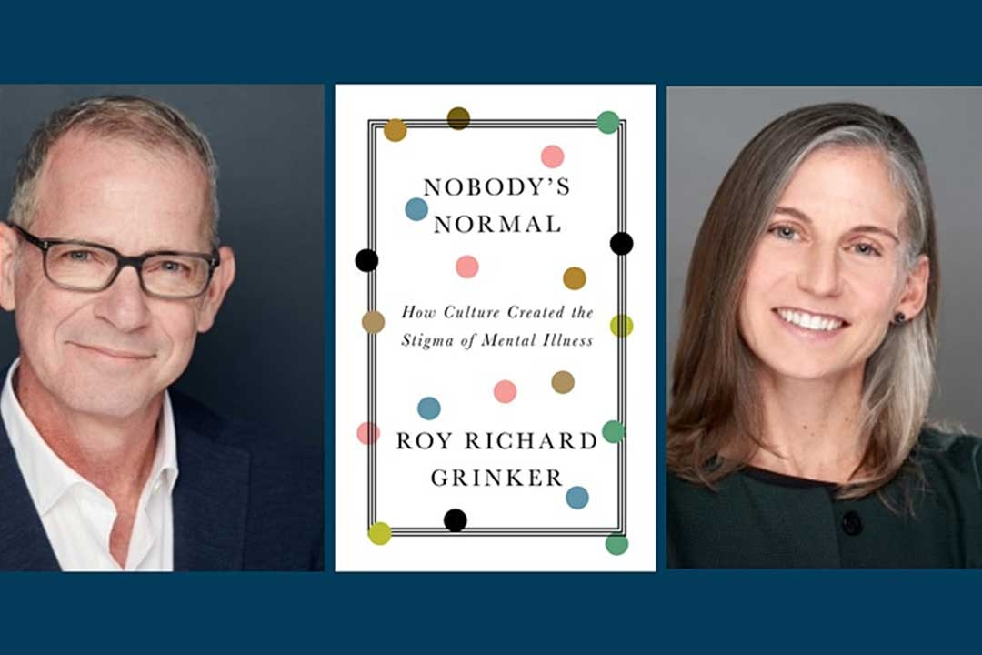 Headshot of Roy Richard Grinker, Sarah Wagner and photo of Nobody's Normal book cover