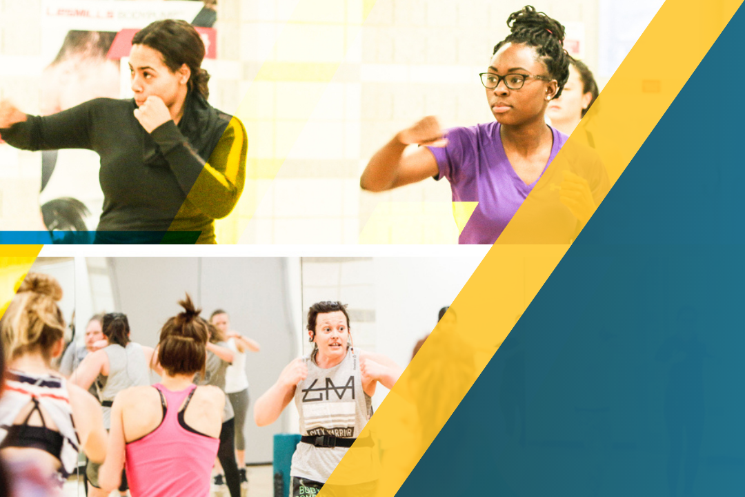 GW community taking group fitness classes