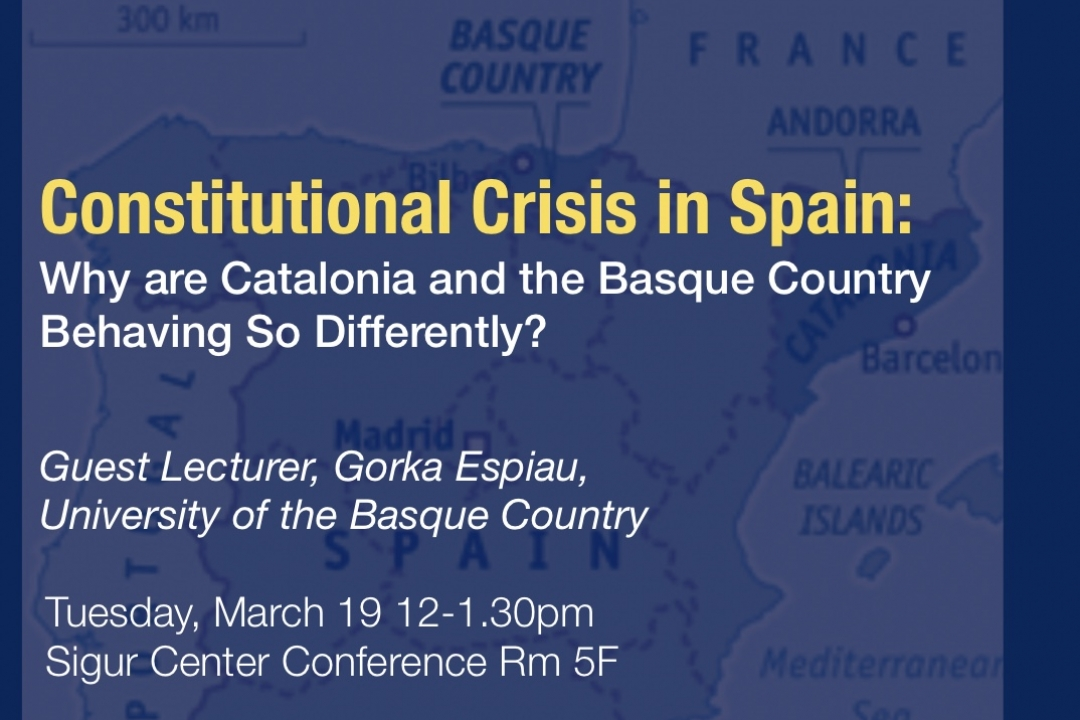 Special Lecture by Visiting Professor Gorka Espiau on Constitutional Crisis in Spain