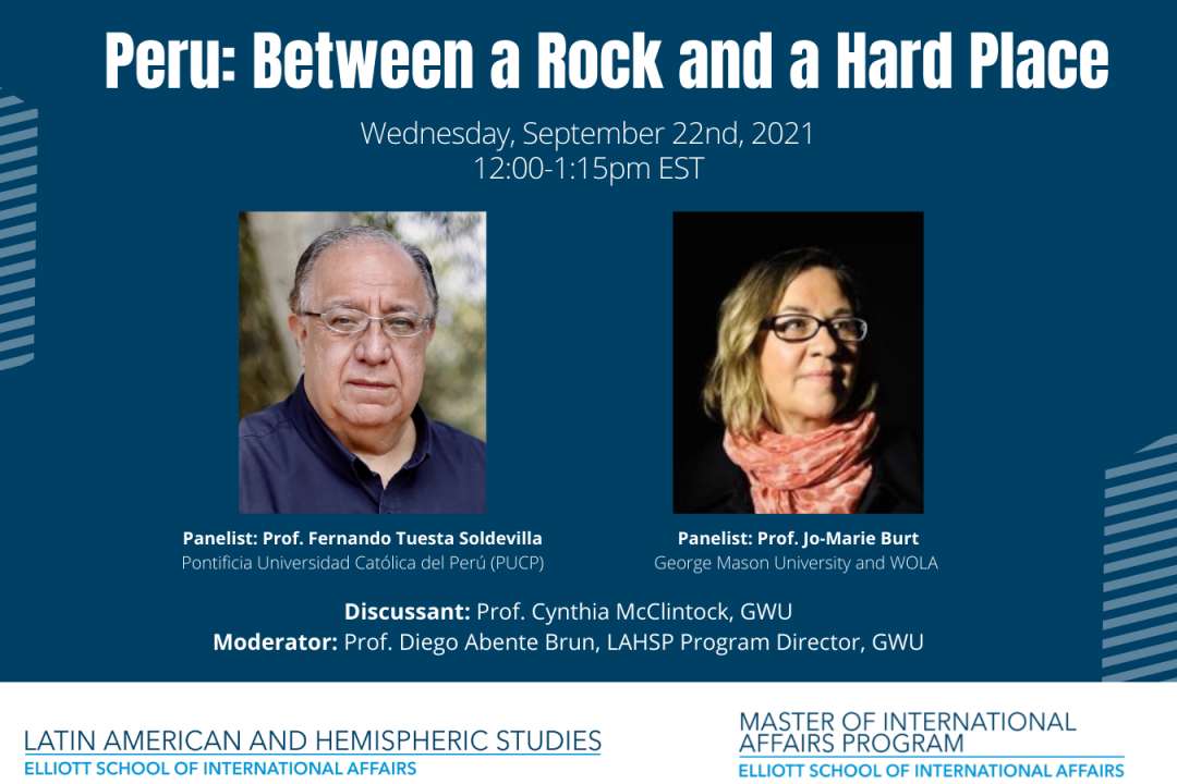 PERU: BETWEEN A ROCK AND A HARD PLACE (event flyer)